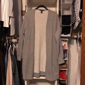 Forever 21 oversized sweatshirt cardigan